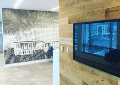 Audio Visual Upgrade. Business Hallway. Washington D.C.